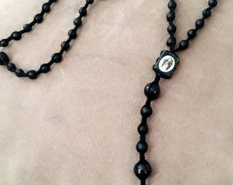 Matte Black Rosary. Other options avaliable