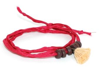 Bracelet Nairobi Habotai cord & tassel