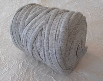 T-shirt yarn - trapilho XXL grey elastic cotton spool bead. Large wire - Hooked zpagehttis Ribbon XXL.
