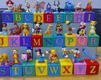 VERY RARE Disney alphabet blocks