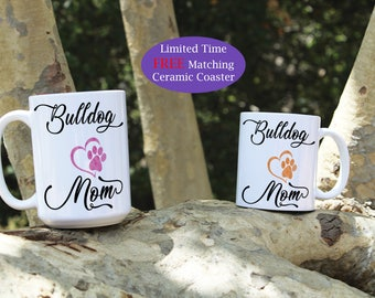 Bulldog mom mug, Bulldog dad mug, Bulldog dog mug, Bulldog mugs, Bulldog dog breed, Bulldog Puppy, Bulldog gift, Dog gift, Cute Bulldog mug