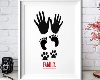 Family,Digital Prints Art,Digital download art,Art Print,Printable,Wall Art Print,Instant Download,Printable Art,Gift Arts,Family Gifts Art