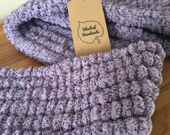 Purple PomPom scarf