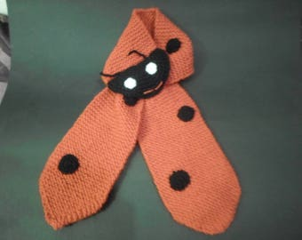 Scarf red and black Ladybug 18/24 months
