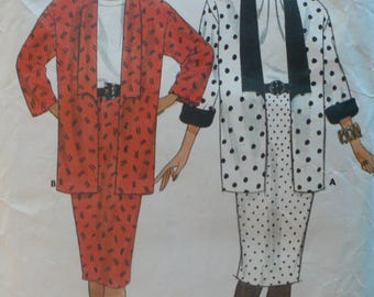 Women's, Misses' Jacket and Skirt Pattern, Vintage Butterick 4430, Fast and Easy, Size 14 - 18
