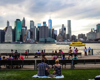 A Summer Day At Brooklyn Bridge Park Print, New York City Photography
