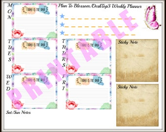 Desk Top Printable| Productivity| Top 3 Tasks| Get Things Done| To Do List| Digital Download|
