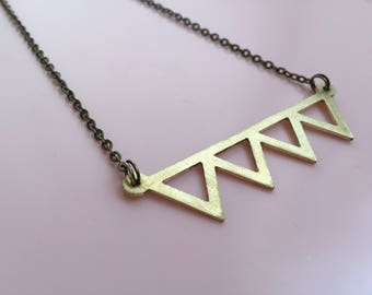 Brass Necklace Bunting Design