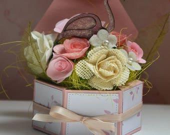 Flower arrangement in the Open box