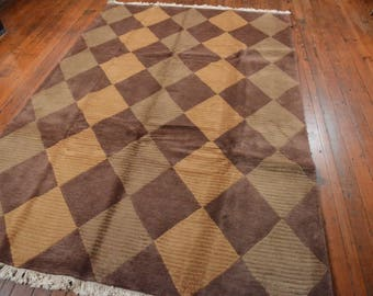 Chinese Contemporary Rug, 6'x9', Gold/Beige/Brown, All wool pile