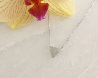Silver Triangle Dainty Necklace