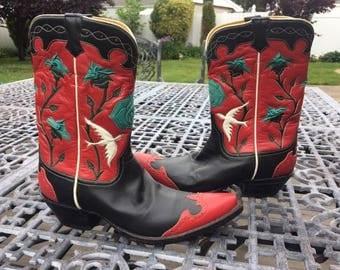 vintage ralph lauren rugby cowboy boots
