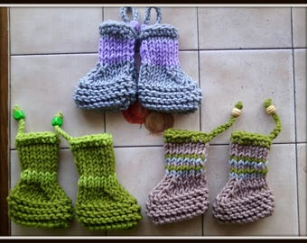 Set of three pairs of slippers, slippers