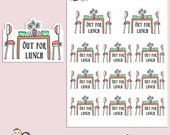 LUNCH | Planner Stickers | Lunch Date | Food | Meal | Reminder | Hand Drawn | Erin Condren | TN | S316