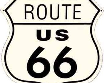 Vintage Style  Route 66 road sign  Travel Decal sticker