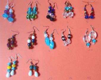 Choose glass earrings