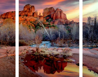 Multi-Panel Canvas Print of Sedona's Cathedral Rock