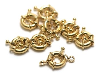 2 buoys 11 mm, gold clasps