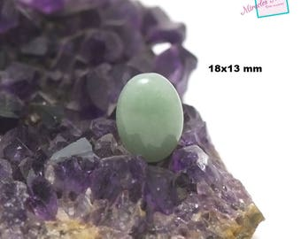 "cabochon 1 ""Oval 18 x 13 mm"" aventurine, natural stone"