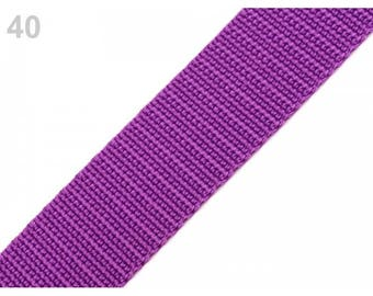 1 meter of strap 20 mm purple nylon