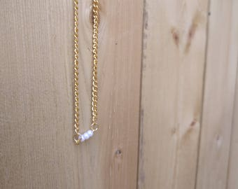 Gold Chain Choker With Beads