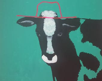THE COW abstract portrait