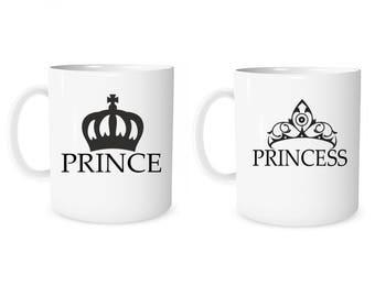 Custom Mug Personalized Mug Prince Princess Mug Coffee Mug Prince Mug Princess Mug Anniversary Mug Wedding Mug Valentine Mug  Couple Gift