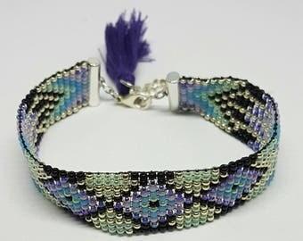 BOHEMIAN bracelet, Boho, Ibiza, woven bracelet, seed.