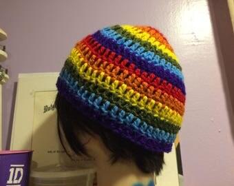Pride rainbow beanie
