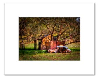 Woodcutters Cottage, Western Australian Heritage in Wanneroo, Matted Photo Print (5x7 inches), Wanneroo, Western Australia