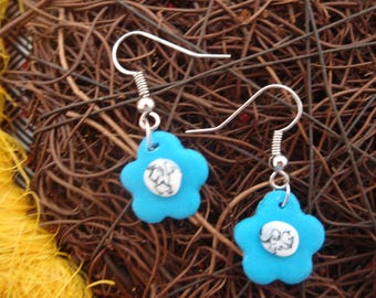 FLORAL BLUE FLOWER COLLECTION EARRINGS