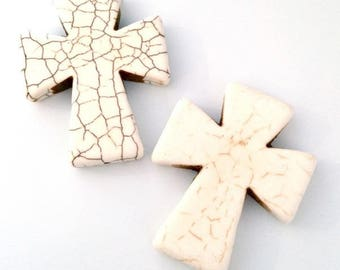 1 x Pearl large cross stone 50mm or 5cm