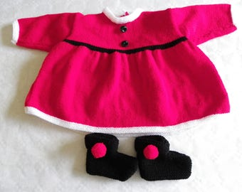 whole dress and booties mother Christmas in 6 months