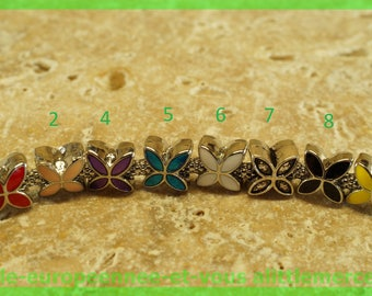 Pearl European N130 N7 flower spacer for bracelet charms