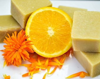 Natural Soap, Mother's Day Gift, Handmade Soap, Gift For Her, Vegan Soap, Palm Oil Free Soap, Pure Essential Oils, Citrus, Orange Delight