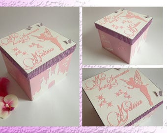 Box keepsake - Castle, fairy and butterflies