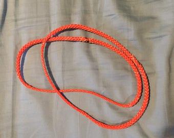8 inch continual loop hammock suspension 7/16 AmSteel ORANGE. Comes as a pair of 2 loops