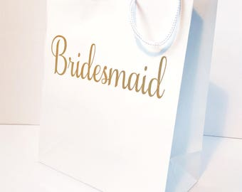 Wedding gift bag - custom price for a name on one side and title on the other