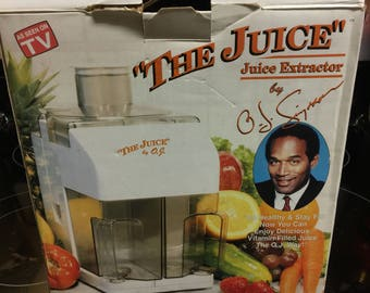 "Oj Simpson ""THE JUICE"" juicer"