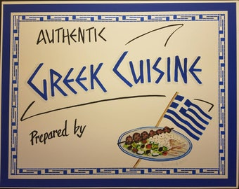 Greek Cuisine sign