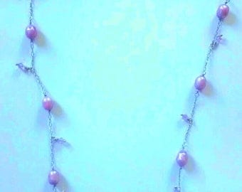 Faceted Pearl, Swarovski, on Sterling Silver