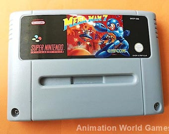Mega Man 7 (Megaman) SNES game Super Nintendo PAL new repro game