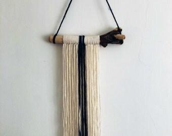 BOHO Handmade Wall Hanging | Bespoke | Wall Decor | Home Accessories | 100% Cotton | Merino Wool | Driftwood