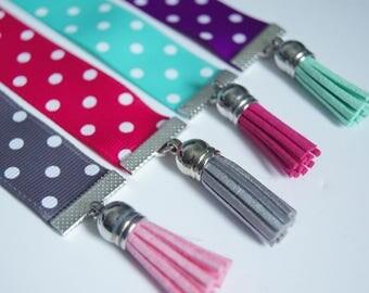 Bookmark Ribbon - polka dots