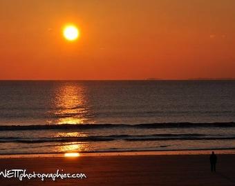 Photo 20 x 30 cm sunset over the ocean