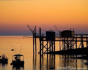 Photography blank at sunset in Charente-Maritime