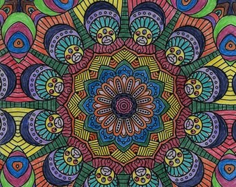 Heads Colored Pencil Wall Art Print Digital Download