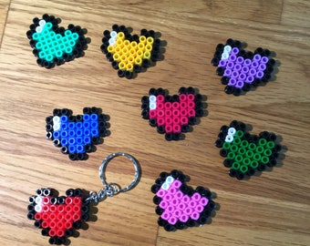 Pixel heart keychain or magnet