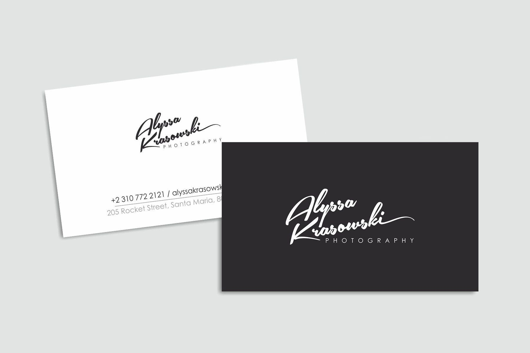 Signature photography calligraphy logo photography logo simple