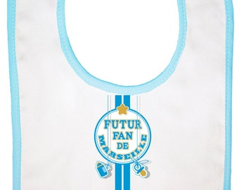 "original ""marseille future fan"" baby bib"